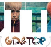 Bigbang GD & TOP 'ZUTTER' Typo 3 Sticker