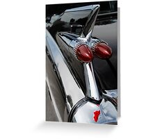 Black '59 Fin Greeting Card