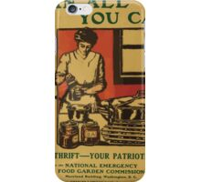 United States Department of Agriculture Poster 0092 Can All You Can Food Thrift Patriotic Gift iPhone Case/Skin