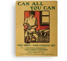 United States Department of Agriculture Poster 0092 Can All You Can Food Thrift Patriotic Gift Canvas Print