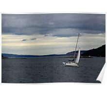 Sailboat on the Puget Sound Poster