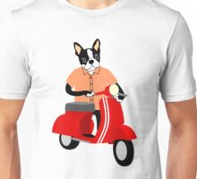 Boston Terrier Vespa Unisex T-Shirt