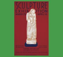 WPA United States Government Work Project Administration Poster 0207 Sculpture Exhibition Federal Art Gallery One Piece - Short Sleeve