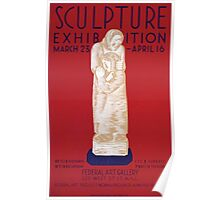 WPA United States Government Work Project Administration Poster 0207 Sculpture Exhibition Federal Art Gallery Poster