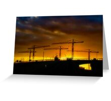 Construction Sunset Greeting Card