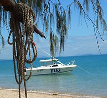 TIKI the fishing boat by Cathie Trimble