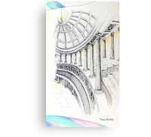 ..columns of a Temple to Beauty... Canvas Print