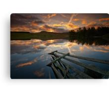 Waiting for the dawn... Loch Moraig, Perthshire Canvas Print