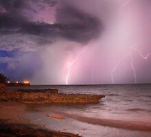 Lightning Over Nightcliff Beach, 14 Nov 2010 by Andrew Brooks