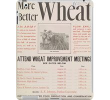 United States Department of Agriculture Poster 0219 More Better Wheat Improvement Meetings iPad Case/Skin