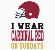 I Wear Cardinal Red on Sundays Kids Tee