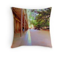 New Orleans Side Alleys Throw Pillow