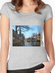 Canals Of Amsterdam III Women's Fitted Scoop T-Shirt