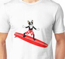Boston Terrier Surfer Unisex T-Shirt