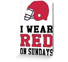 I Wear Falcon Red on Sundays Greeting Card
