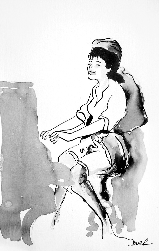 piano lesson by Loui  Jover