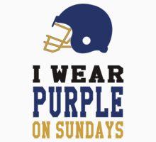 I Wear Purple One Piece - Short Sleeve