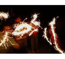 Sparklers !!!  Photographic Print