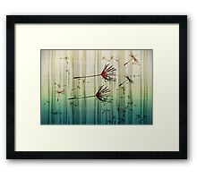 seeded bloom Framed Print
