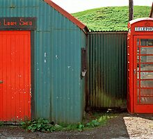 Loom Shed & Telephone Box, Skye, Scotland, UK. by David A. L. Davies
