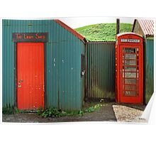 Loom Shed & Telephone Box, Skye, Scotland, UK. Poster