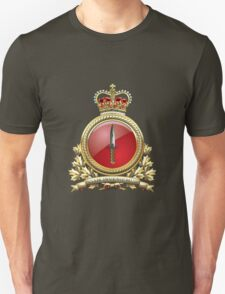 Canadian Special Operations Forces Command - CANSOFCOM Badge over Waving Flag T-Shirt