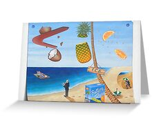 Butler's Choice: Fresh juice on the beach Greeting Card