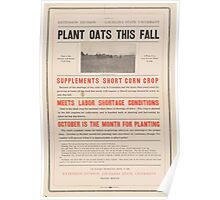United States Department of Agriculture Poster 0245 Plant Oats This Fall Poster