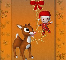 Rudolf`s Christmas Card by LoneAngel