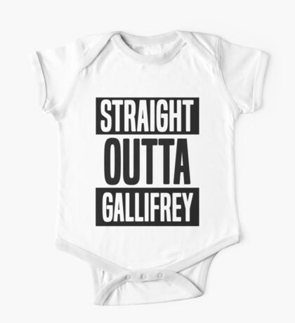 Straight Outta Gallifrey One Piece - Short Sleeve