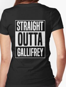 Straight Outta Gallifrey Womens Fitted T-Shirt