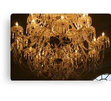 Bath Pump Room chandelier Canvas Print