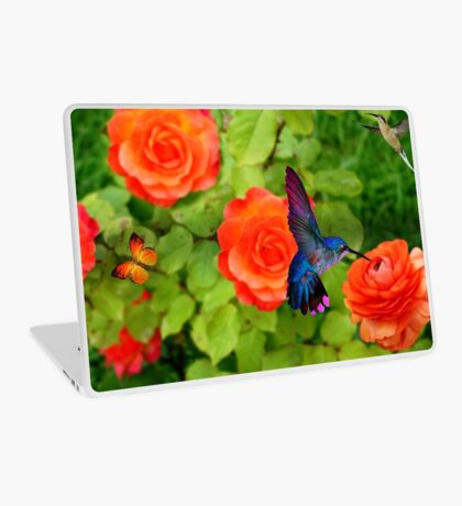 Hummingbird And Roses Laptop Skin