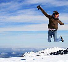 """""""leap of faith""""  fox glacier, south island, nz by rina  thompson"""