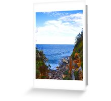 above the water Greeting Card