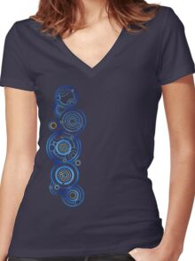 Dr Who's signature Women's Fitted V-Neck T-Shirt
