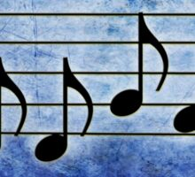 DRUMS - Words in Music Color Background - V-Note Creations Sticker