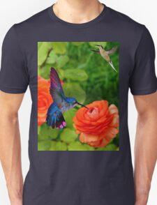 Hummingbird And Roses T-Shirt