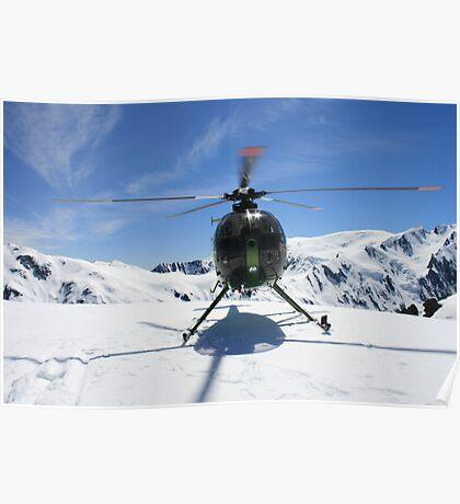 """""""snow landing""""  franz josef, west coast, nz Poster"""