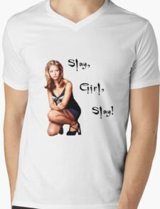 Slay, Girl, Slay! - Buffy Mens V-Neck T-Shirt
