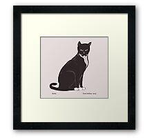 Socks the Cat Framed Print