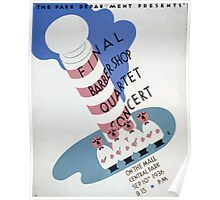 WPA United States Government Work Project Administration Poster 0283 Final Barbershop Quartet Concert on the Mall Central Park Poster