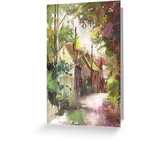 Sketch of France ...Barbizon Village de Peintres Greeting Card