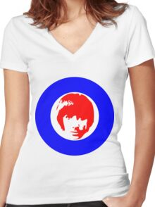 Keith Moon Mod T-Shirt Women's Fitted V-Neck T-Shirt