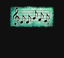 DRUMS - Words in Music Teal Green Background - V-Note Creations Unisex T-Shirt