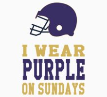 I Wear Purple on Sunday (Minnesota) One Piece - Short Sleeve