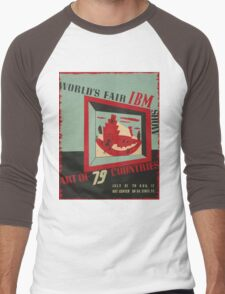 WPA United States Government Work Project Administration Poster 0743 World's Fair IBM show Men's Baseball ¾ T-Shirt