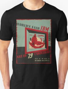 WPA United States Government Work Project Administration Poster 0743 World's Fair IBM show T-Shirt