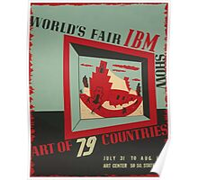 WPA United States Government Work Project Administration Poster 0743 World's Fair IBM show Poster