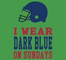 I Wear Dark Blue on Sundays Baby Tee